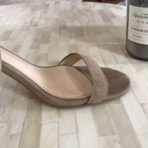 Jessica Simpson Shoes - Jessica Simpson nude suede heels